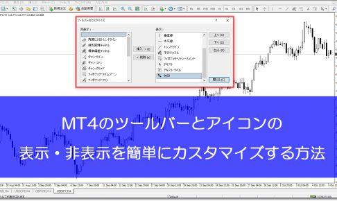 MT4ツールバーとアイコンのカスタマイズ方法