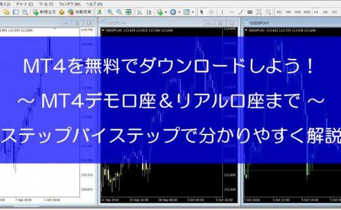 MT4の無料ダウンロード方法からインストール・デモ・リアル口座まで日本語ですべて解説