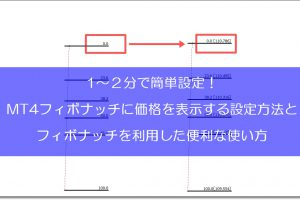 MT4フィボナッチに価格を表示する設定方法TOP