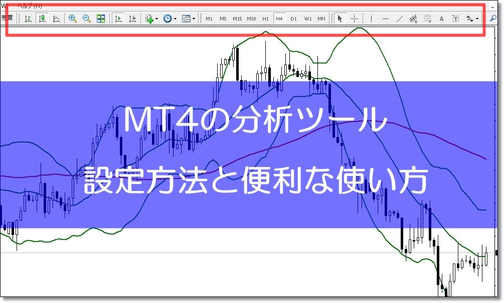 MT4の分析ツールの設定方法と使い方